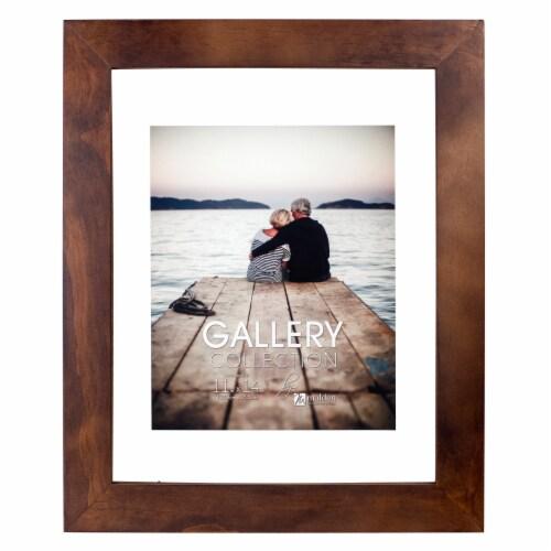 Malden Walnut Floating Glass Picture Frame Perspective: front