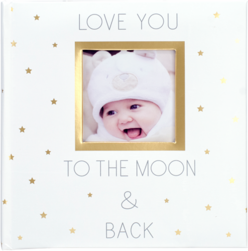 Malden Love You to the Moon and Back Photo Album - White/Gold Perspective: front