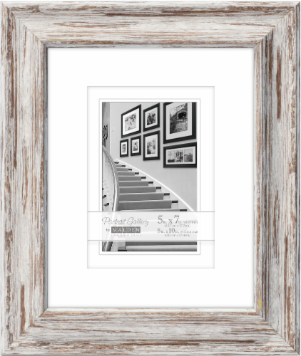 Malden 8 x 10 Picture Frame with 5 x 7 Mat Perspective: front
