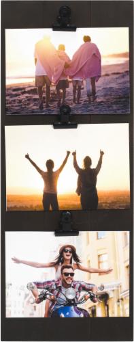 Malden 3-Opening Clip Frame - Dark Walnut Perspective: front