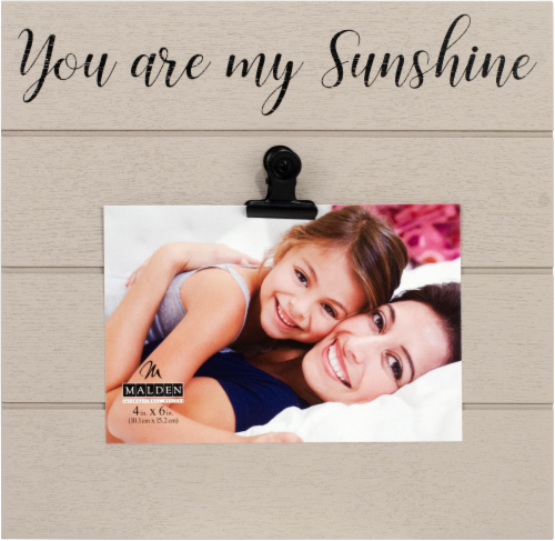 Malden You Are My Sunshine Clip Frame - Gray Perspective: front