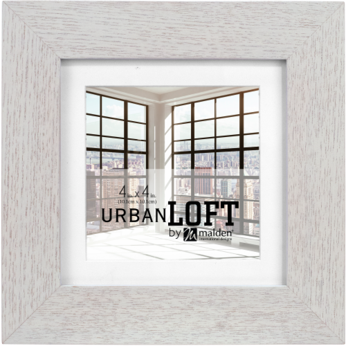 Malden Urban Loft Stained Wood Frame - Gray Perspective: front