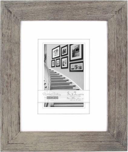 Malden Manhattan 8 x 10 Mat Picture Frame - Gray Perspective: front