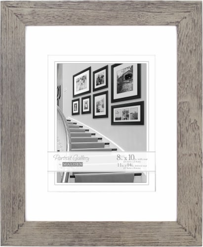 Malden Eco Bamboo Picture Frame - Gray Perspective: front