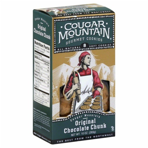 Cougar Mountain Original Chocolate Chunk Cookies 8 Count Perspective: front