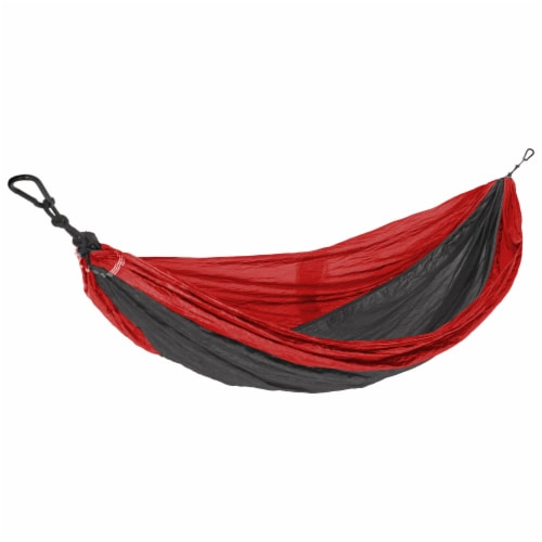 Castaway Hammock Parachute Single Red/Charcoal Perspective: front