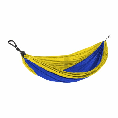 Castaway Hammock Parachute Single Yellow/Indigo Perspective: front