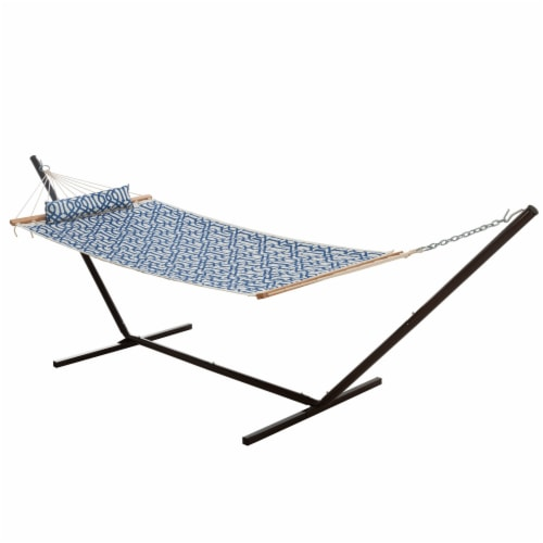 Castaway Hammock Quilted Geo Print with Pillow Perspective: front