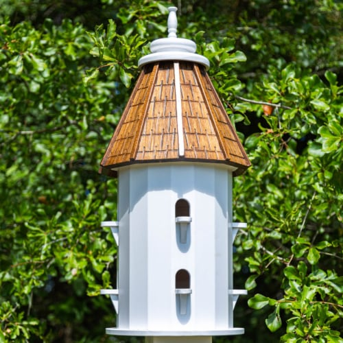 Castaway Two-Tiered Bird House Perspective: front