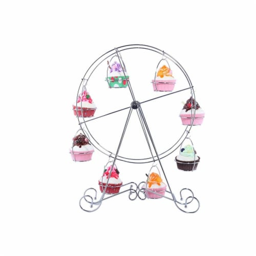 Ferris Wheel Cupcake Dessert Stand Carrier Holder for Birthday  Wedding Party Perspective: front