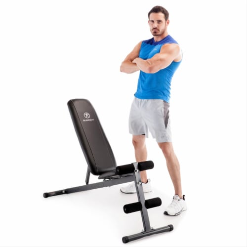 Marcy Pro Adjustable Home Gym Utility Exercise Weight Training Workout Bench Perspective: front
