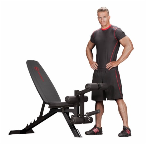 Marcy Multipurpose Adjustable Compact Home Gym Workout Utility Slant Board Bench Perspective: front