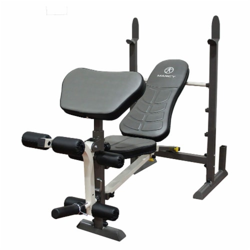 Marcy MWB-20100 Adjustable, Folding Standard Full Body Workout Weight Bench Perspective: front
