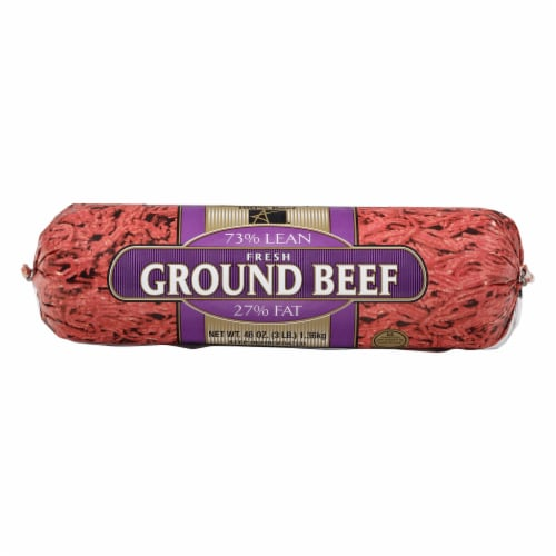 American Foods Group 73% Lean Ground Beef Perspective: front