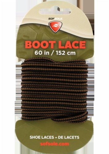 Sof Sole Boot Laces - Black/Brown Perspective: front