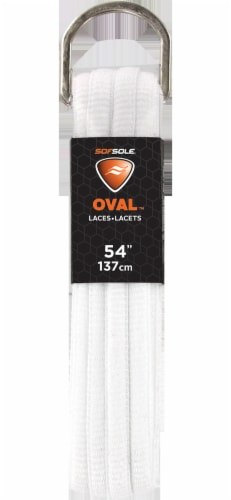 Sof Sole Oval Athletic Shoe Laces - White Perspective: front