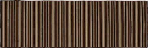 Garland Infinity Stripe Floor Runner - Putty Perspective: front