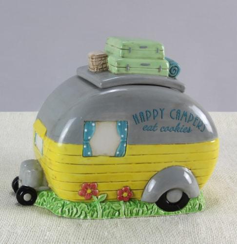 Happy Camper Cookie Jar Perspective: front