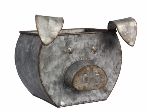 Tin Pig Shaped Bucket Perspective: front