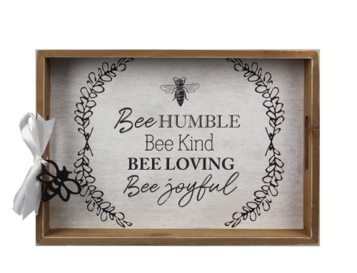 Wood Bee Tray Perspective: front