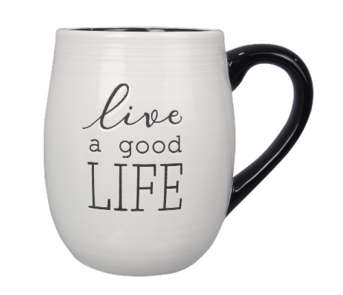 """Live A Good Life"" 4PC. Mug Set Perspective: front"