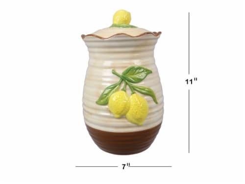 Ceramic Lemon Cookie Jar Perspective: front