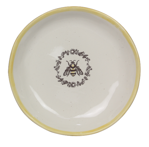 Ceramic Bee Large Serving Platter Perspective: front