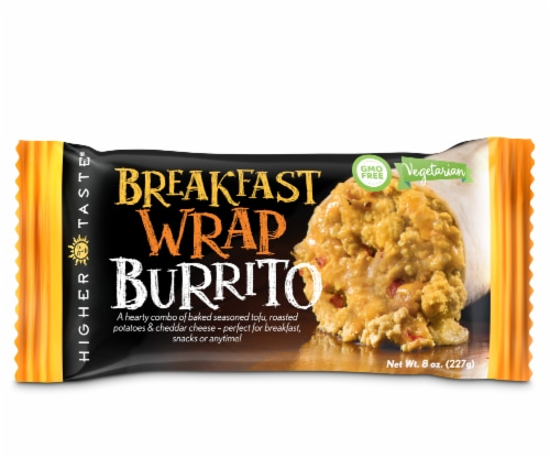 The Higher Taste Breakfast Wrap Burrito Perspective: front