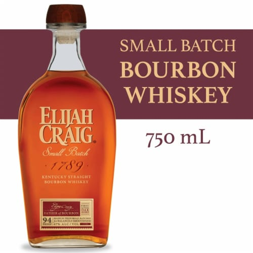 Elijah Craig Kentucky Bourbon Whiskey Perspective: front