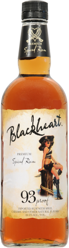 Blackheart Spiced Rum Perspective: front