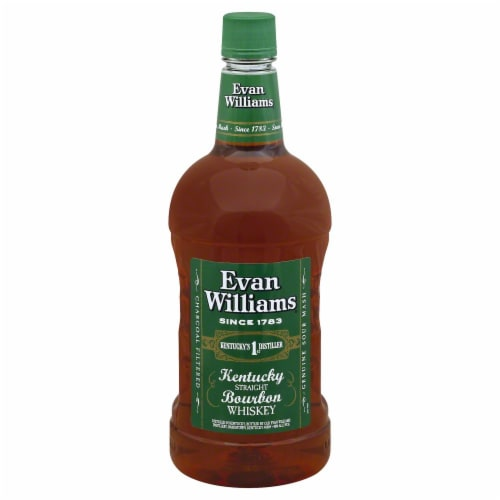Evan Williams Kentucky Straight Bourbon Whiskey Perspective: front