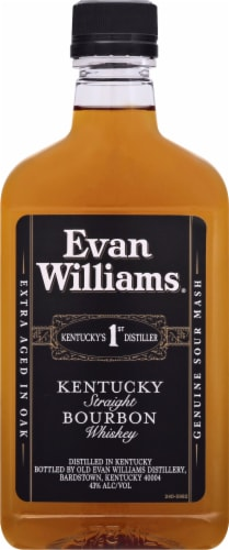 Evan Williams Kentucky Bourbon Whiskey Perspective: front