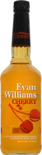 Evan Williams Cherry Reserve Whiskey Perspective: front
