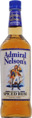 Admiral Nelson's Spiced Rum Perspective: front