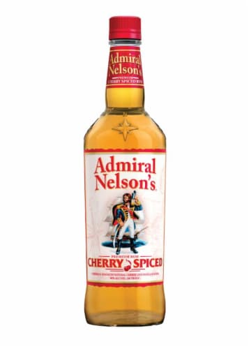 Admiral Nelson's Cherry Spiced Rum Perspective: front