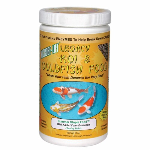 Eco Labs ECLMLLSSSM Eco Labs 13oz Summer Staple Koi and Goldfish Food Perspective: front