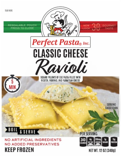 Perfect Pasta Cheese Ravioli Perspective: front
