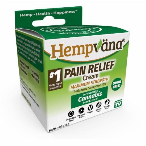 Hempvana Maximum Strength Cannibis Sativa Pain Cream Perspective: front