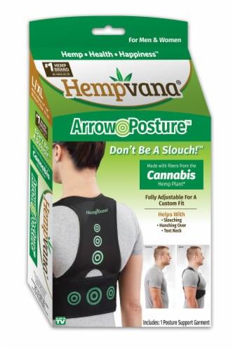 Hempvana Arrow Posture Cannabis Support Garment Perspective: front