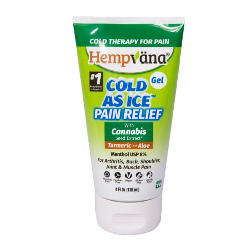 Hempvana Cold As Ice Cannabis Pain Relief Gel Perspective: front