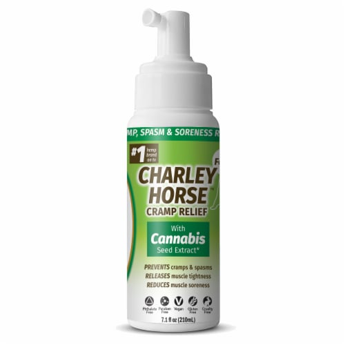 Hempvana Charley Horse Cramp Relief with Cannabis Seed Extract Perspective: front