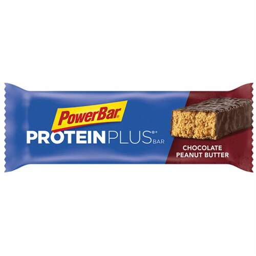 Powerbar 20g Protein Plus Chocolate Peanut Butter Bar, 2.12 Ounce -- 120 per case. Perspective: front
