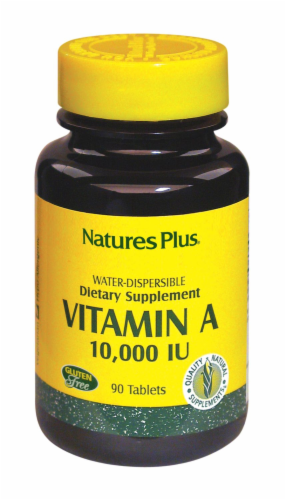 Natures Plus Vitamin A 10000 IU Dietary Supplement Perspective: front