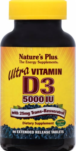 Nature's Plus  Ultra Vitamin D3 with Trans-Resveratrol Perspective: front