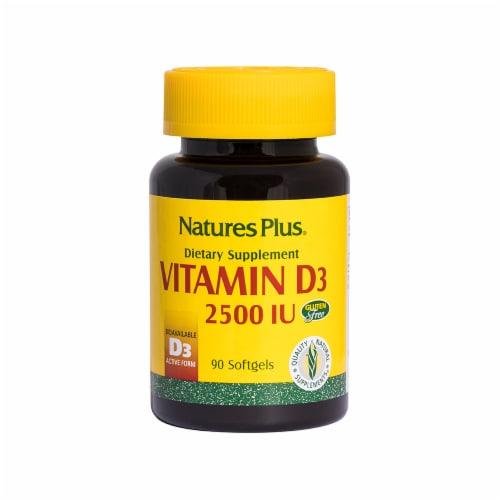 Nature's Plus Vitamin D3 Softgels 2500IU Perspective: front