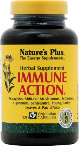 Nature's Plus Immune Action Capsules Perspective: front