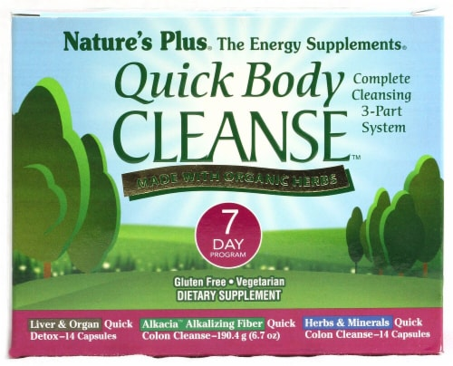 Nature's Plus Organic Quick Body Cleanse 7 Day Program Perspective: front