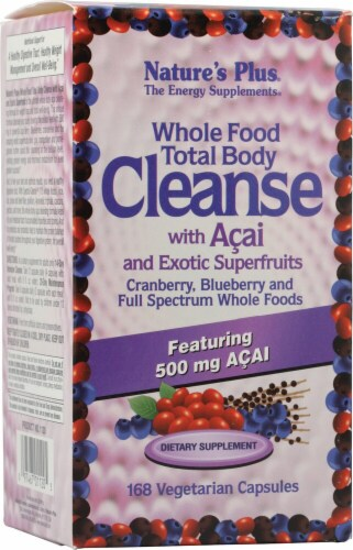 Nature's Plus Whole Food Total Body Cleanse with Acai and Exotic Superfruits Dietary Supplement Perspective: front