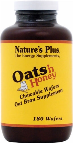 Nature's Plus Oats 'n Honey Oat Bran Supplement Wafers Perspective: front