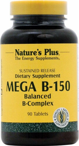 Nature's Plus Mega B-150 Dietary Supplement Perspective: front